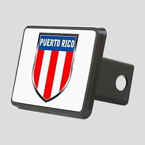 Puerto Rico Shield Rectangular Hitch Cover