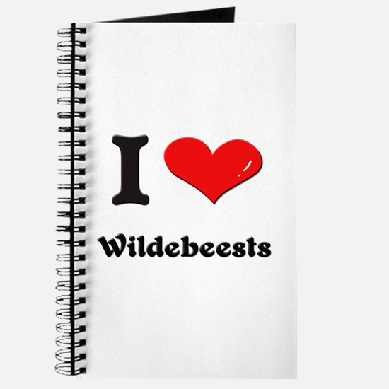I love wildebeests Journal