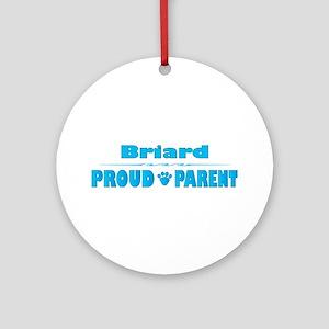 Briard Parent Ornament (Round)