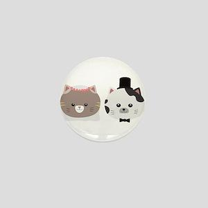 Cat Wedding Couple Cn557 Mini Button