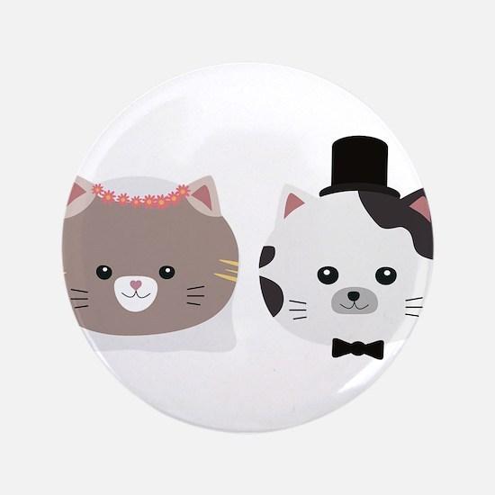 Cat Wedding Couple Cn557 Button