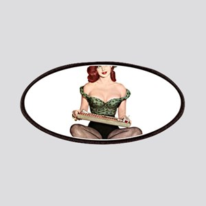Red Head Waitress Pin Up Girl Patches