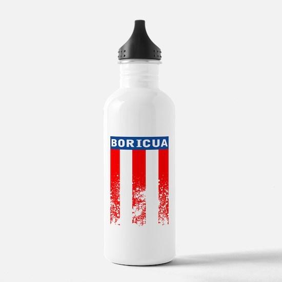 Boricua Vertical Flag Water Bottle