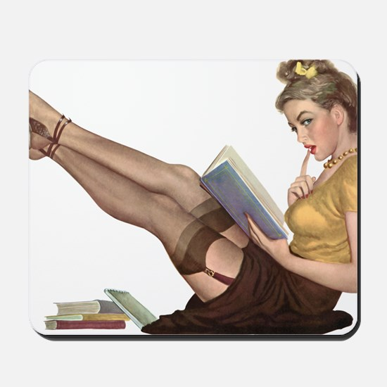 Librarian Student Pin Up Girl Mousepad