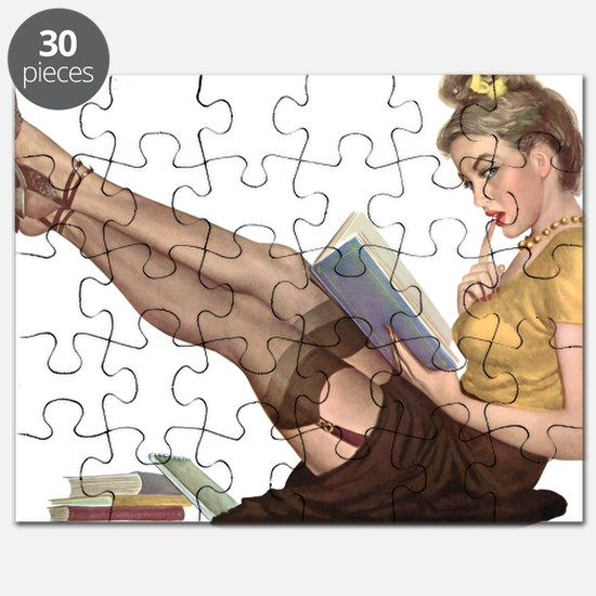 Librarian Student Pin Up Girl Puzzle