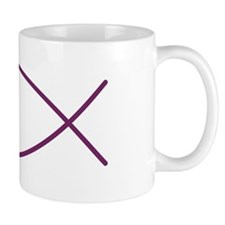 Magenta Christian Faith Fish Mug