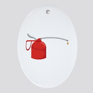 OIL CAN Ornament (Oval)