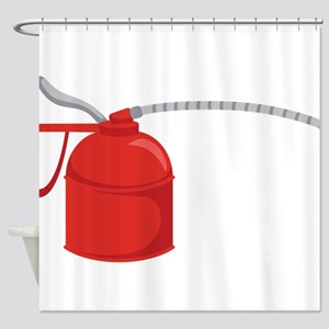 OIL CAN Shower Curtain