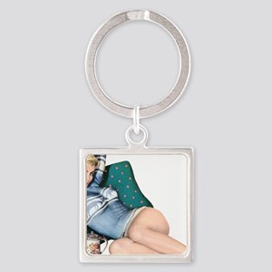 Cabin Cottage Mountain Chic Pin Up Girl Keychains