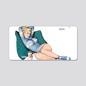 Cabin Cottage Mountain Chic Pin Up Girl Aluminum L