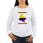 Colombia es pasion Women's Long Sleeve T-Shirt