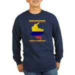 Colombia es pasion Long Sleeve Dark T-Shirt