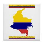 Colombia es pasion Tile Coaster