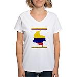 Colombia es pasion Women's V-Neck T-Shirt