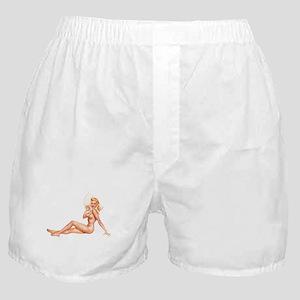 Summer Swimsuit Blonde Pin Up Girl Boxer Shorts