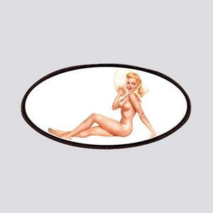 Summer Swimsuit Blonde Pin Up Girl Patches