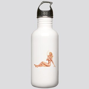 Summer Swimsuit Blonde Pin Up Girl Water Bottle