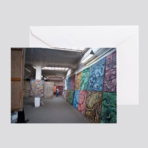 Interior of the Kunsthaus Tacheles Greeting Card