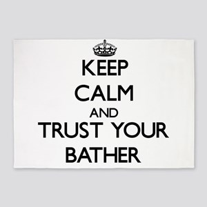 Keep Calm and Trust Your Baar 5'x7'Area Rug