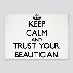 Keep Calm and Trust Your Beautician 5'x7'Area Rug