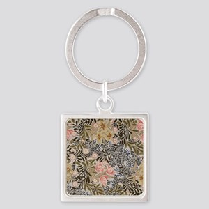 William Morris Bower Square Keychain