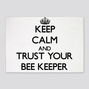 Keep Calm and Trust Your Bee Keeper 5'x7'Area Rug