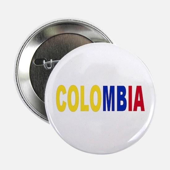 "Colombia tricolor name 2.25"" Button"