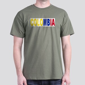Colombia tricolor name Dark T-Shirt