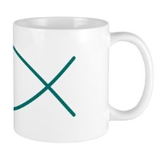 Teal Christian Faith Fish Mug