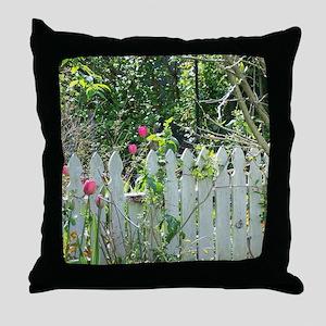 Cheerful Garden Throw Pillow