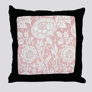 William Morris Pink and Rose Throw Pillow