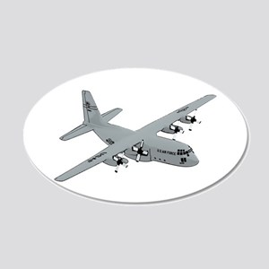 C-130 20x12 Oval Wall Decal