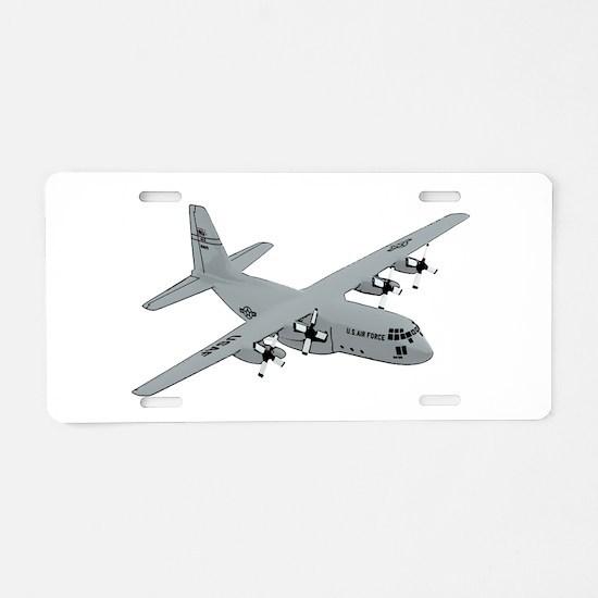 C-130 Aluminum License Plate
