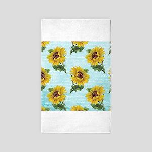 Sunflowers 3'x5' Area Rug