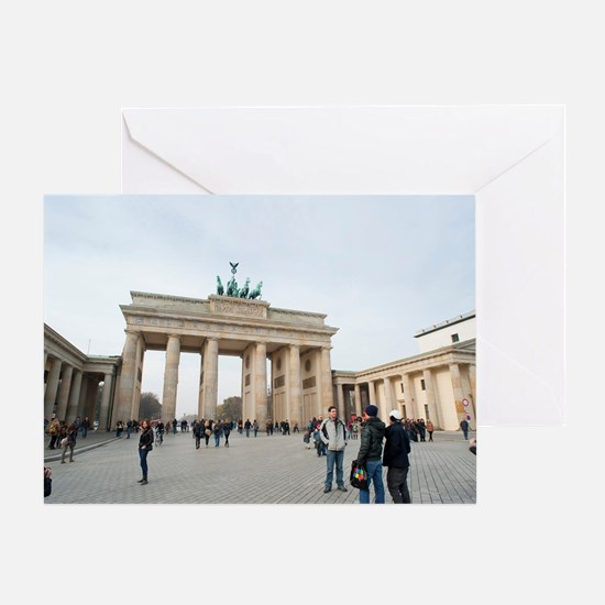Unter den Linden, Brandenburg Gate Greeting Card
