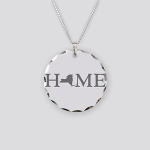 New York Home Necklace Circle Charm