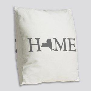 New York Home Burlap Throw Pillow