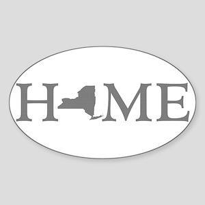 New York Home Sticker (Oval)