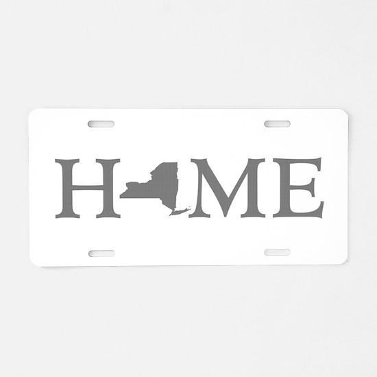 New York Home Aluminum License Plate