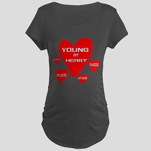 Young at Heart Maternity Dark T-Shirt