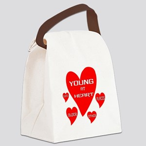Young at Heart Canvas Lunch Bag