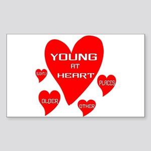 Young At Heart Sticker (rectangle)