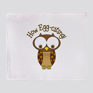 How Egg-Citing! Throw Blanket