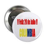 20 Julio Colombian day Button