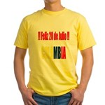 20 Julio Colombian day Yellow T-Shirt