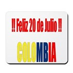 20 Julio Colombian day Mousepad