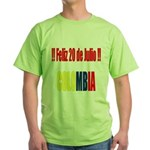 20 Julio Colombian day Green T-Shirt