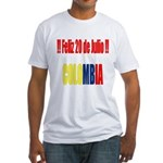 20 Julio Colombian day Fitted T-Shirt