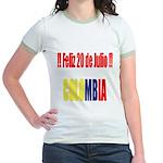20 Julio Colombian day Jr. Ringer T-Shirt