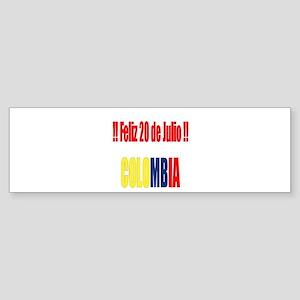 20 Julio Colombian day Bumper Sticker